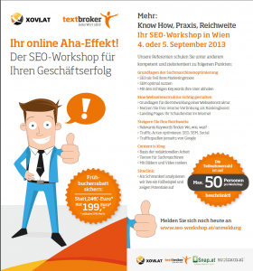 Earlybird SEO Workshop WIen
