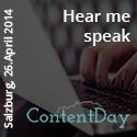 Manfred Gottschling spricht auf dem Contentday in Salzburg
