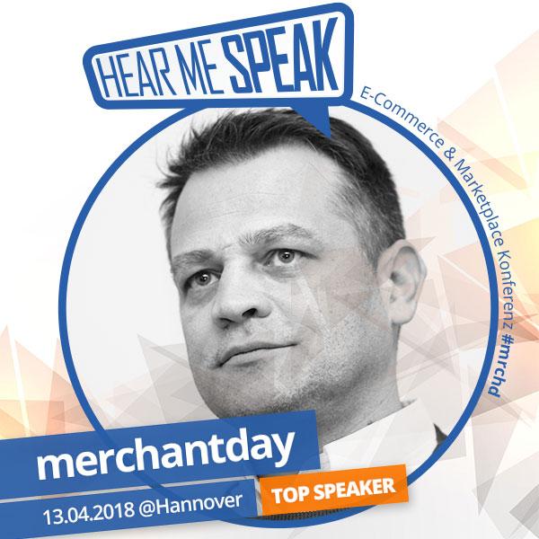 Manfred Gottschling spricht auf dem Merchantday in Hannover